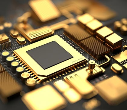Gold is used in electronics to connect to transmit data
